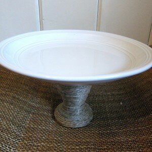 Jute Wrapped Cake Stand