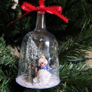 DIY Snow Globe Ornaments tutorial
