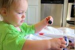 Painting Easter Eggs with a Toddler