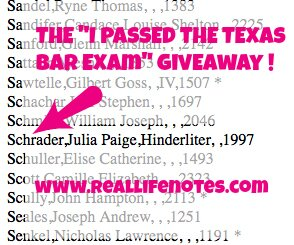 Texas Bar Exam Giveaway