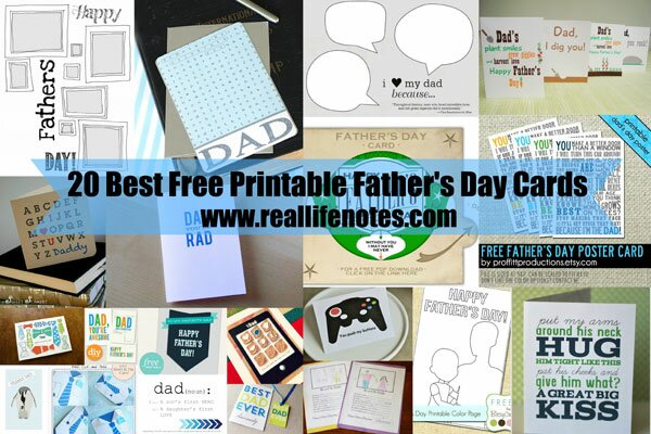20 Best Free Printable Father's Day Cards
