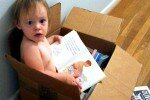 Baby Reading in a Box