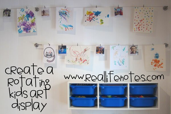 Kids Rotating Art Display