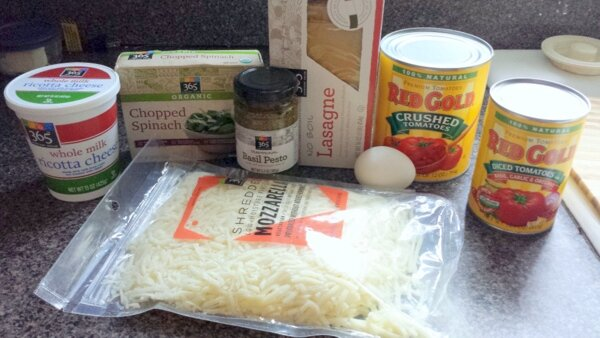 Spinach Pesto Lasagna Ingredients