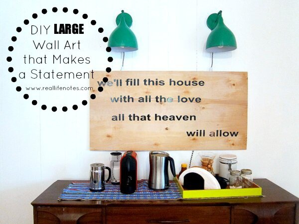 DIY Large Wall Art That Makes A Statement, Large Statement Wall Art