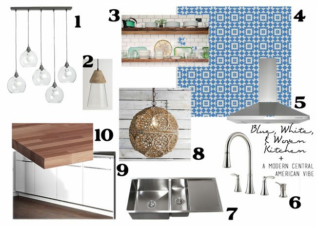 Blue White Kitchen, Cozy Modern Kitchen, Granada Tile