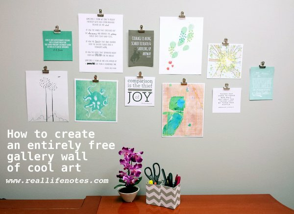 Gallery Wall Of Free Printable Artwork